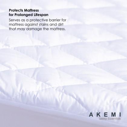 AKEMI Sleep Essentials Fitted Mattress Protector Queen