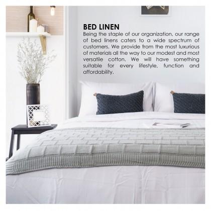Ai by AKEMI Blissed - Fitted Bedsheet Set 820TC (Marine Stripes, Iron Grey)