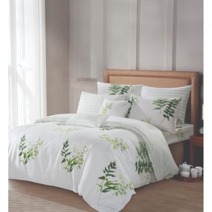 AKEMI Cotton Select Fitted Bedsheet Set 730TC (Adore- Fern Beauty)