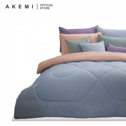 Ai by AKEMI Hugs - Fitted Bedsheet Set 900TC (Sand Beige/ Forest Green)