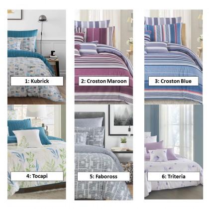 AKEMI Cotton Select Fitted Bedsheet Set - Adore 730TC