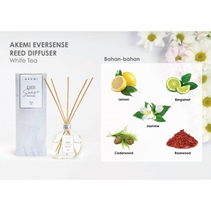 2 x AKEMI Ever Sense Reed Diffuser Home Fragrance (White Tea & Ocean Breeze)