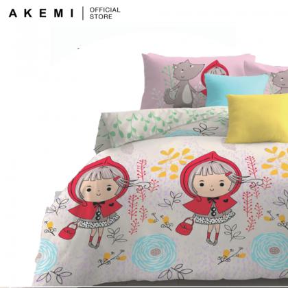 AKEMI Cotton Essentials Jovial Kids Fitted Bedsheet Set 650TC