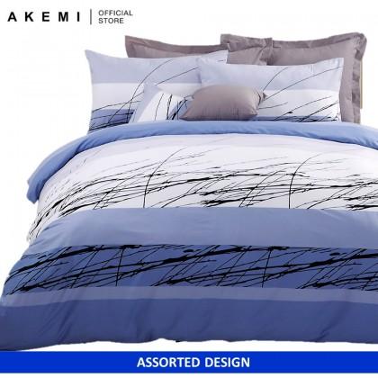 AKEMI Cotton Select - Adore Geometrics Fitted Bedsheet Set 730TC (Assorted Designs)