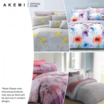 AKEMI Cotton Select Adore Flower Fitted Bedsheet Set 730TC (Assorted Designs)