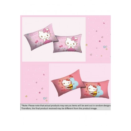 Hello Kitty Panel Print Cotton Pillow Case (2pcs)