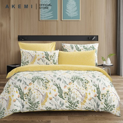 AKEMI Cotton Essentials Fitted Bedsheet Set 650TC (At Home Bliss)